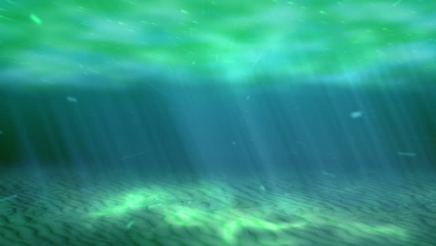Looping Sea Animation. Colorful Animation Of 3d Underwater ...