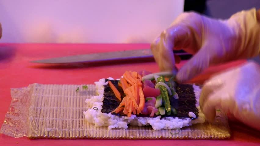 Making Sushi 2 shots