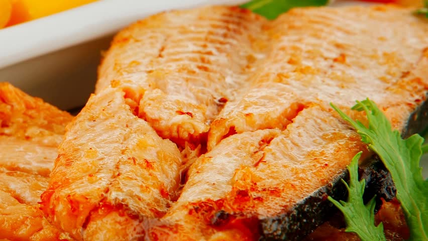 Roast Salmon And Butter With Tomatoes And Lemon 1920x1080 Intro Motion ...