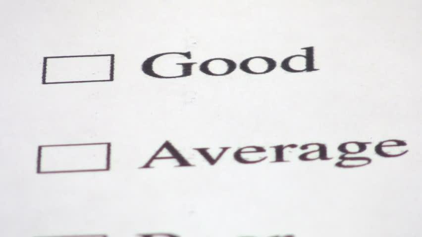 good costumer service survey check box