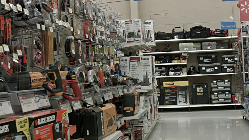 EPHRAIM, UTAH NOV 2013: Shopping in hardware department for Thanksgiving and Christmas holiday is big financial boost to business and economy. Food, grocery product selling will increase as year ends.