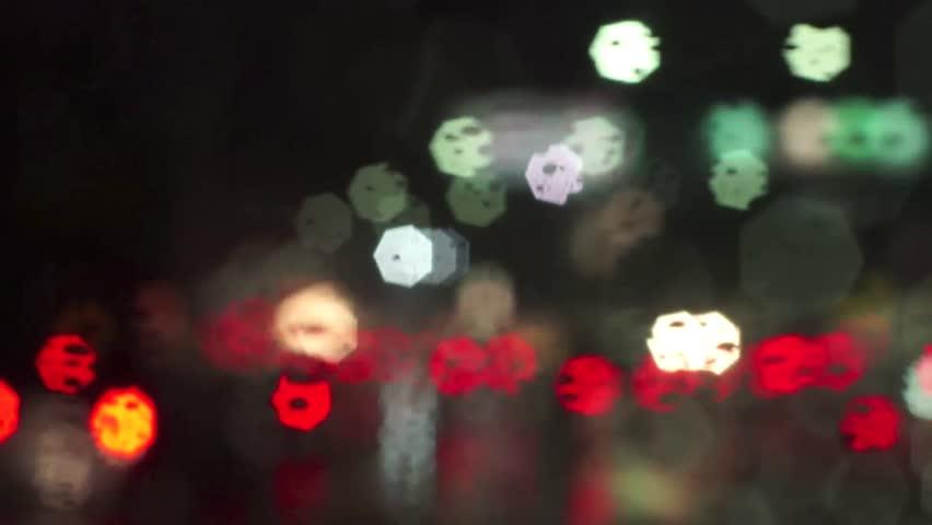 Traffic Jam In The City. Bokeh Light. Stock Footage Video