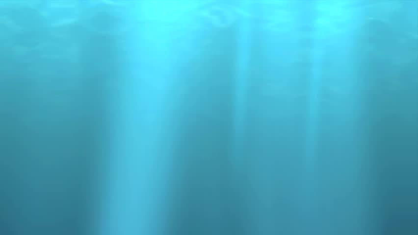 Blue Green underwater with reflected sunlight background animation.