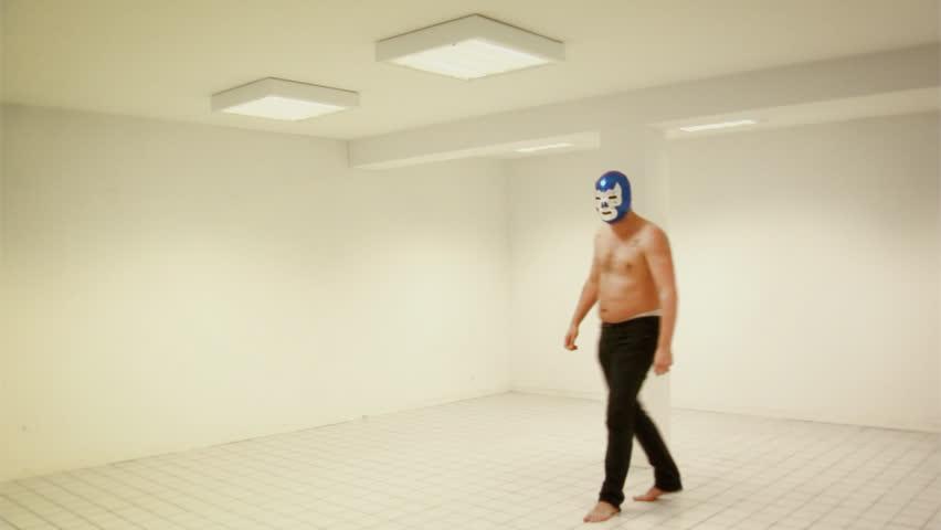 Threatening Wrestler