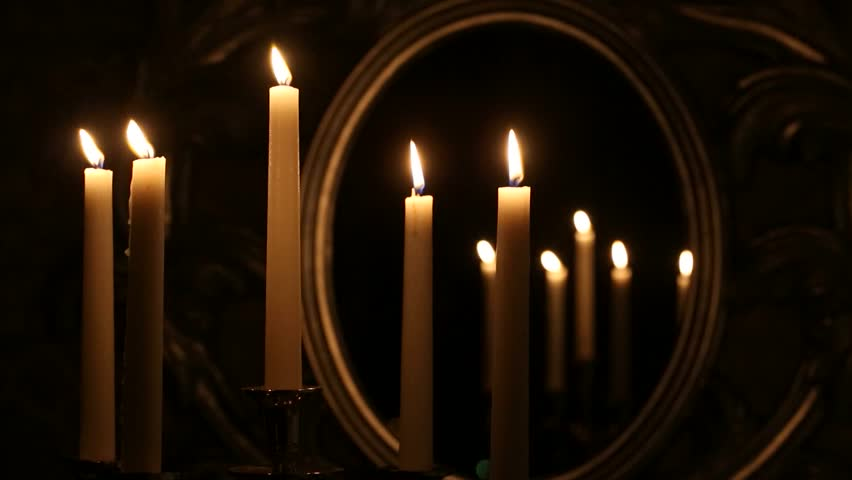 Candlestick with burning candles