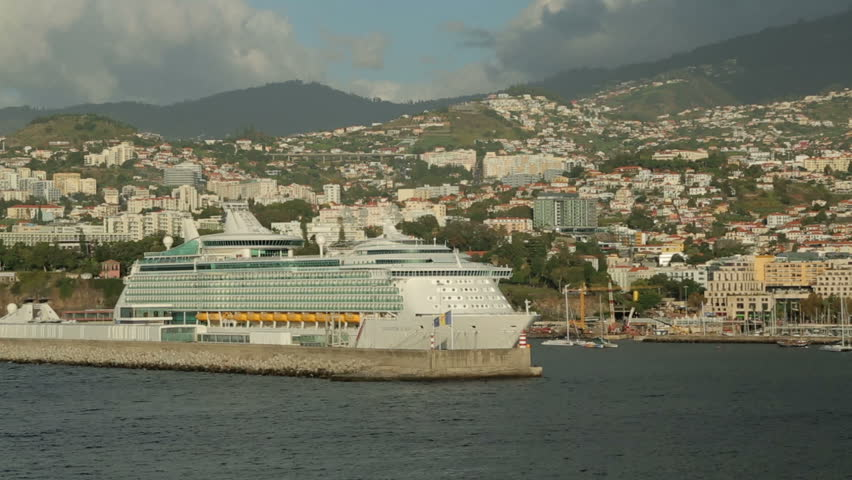 FUNCHAL MADEIRAPORTUGAL  NOVEMBER 14 Royal Caribbean Cruise Ship Moors On