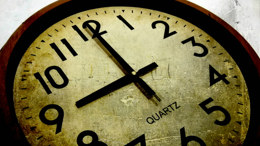 nine to five grunge clock (time laps film ) - HD stock footage clip
