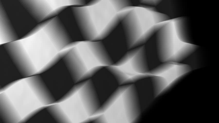 checkered racing flag - HD stock footage clip