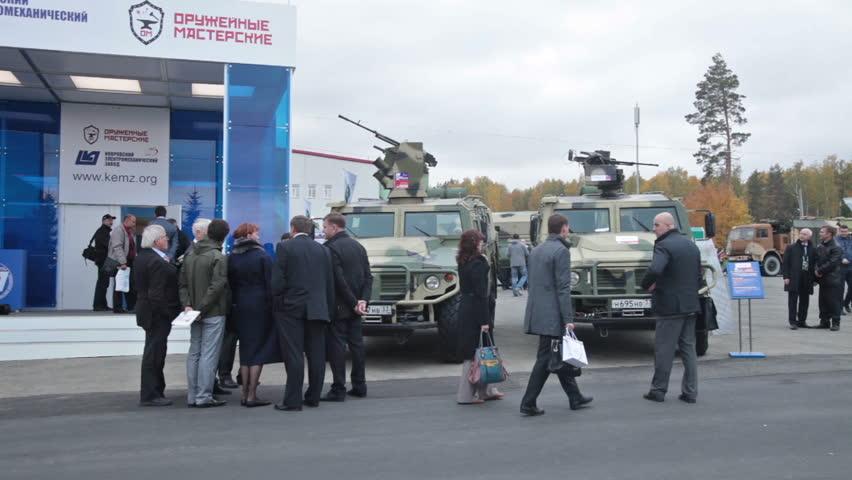 NIZHNY TAGIL, RUSSIA - SEP 26, 2013: The Russian Armored ...