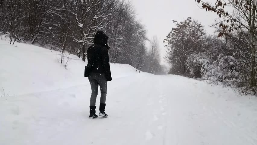 walking in the snow - photo #14