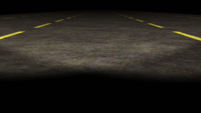 1080p loopable 3d empty highway animation / Travel night with Car  Cool background,  because it is perfectly looping, easy to speed up for time lapse and faster driving effects - HD stock footage clip