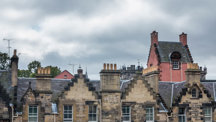 4K version of Roofs in Edinburgh, Scotland