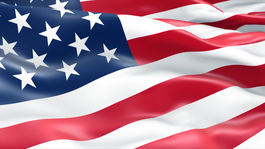 Close-up usa flag - HD stock footage clip