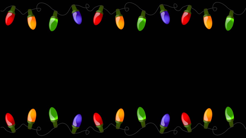 flashing christmas lights on alpha channel seamless loop