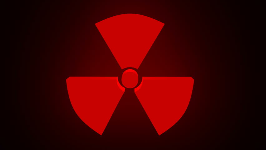 radioactivity symbol rotating with circular pattern in the
