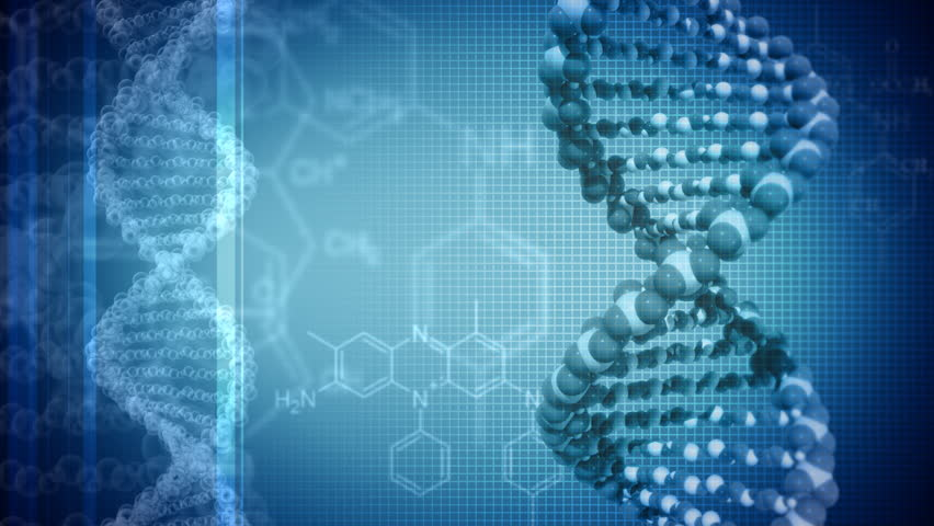 Blue background with rotating DNA. Loop - HD stock video clip
