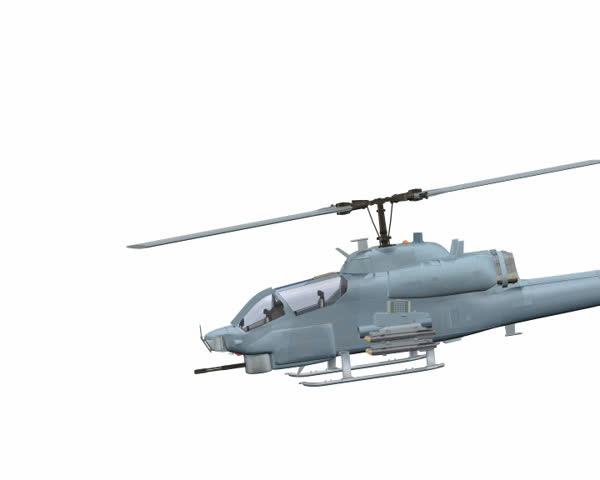 Helicopter Animation Loop - SD stock footage clip