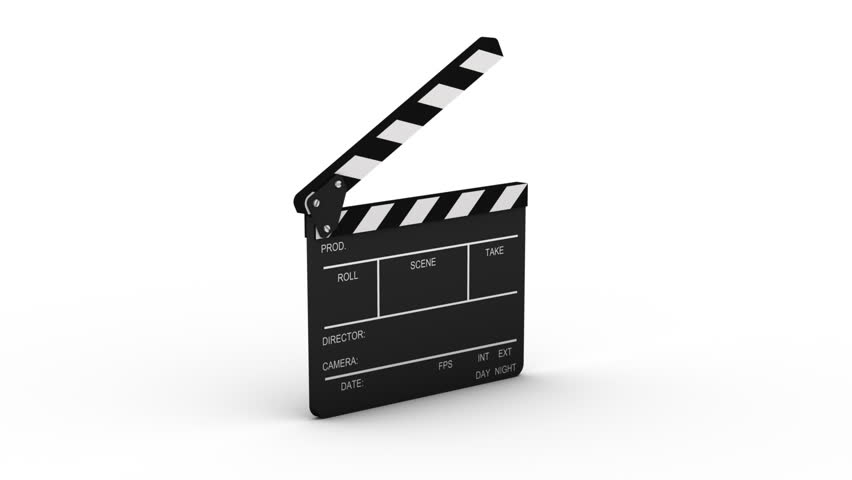 Closing clapboard isolated on a white background