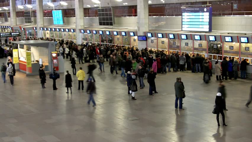 People in the terminal. Time lapse - HD stock footage clip