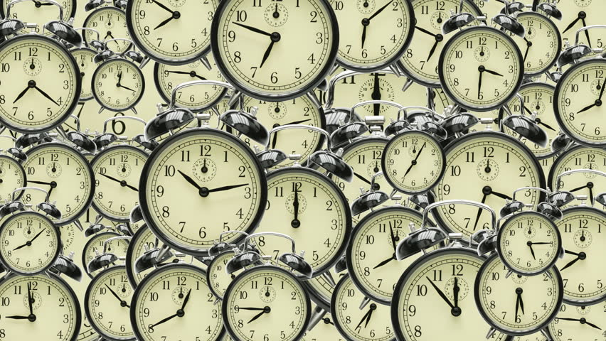 Many old fashioned clocks running in time lapse in 3D space | Shutterstock HD Video #610642