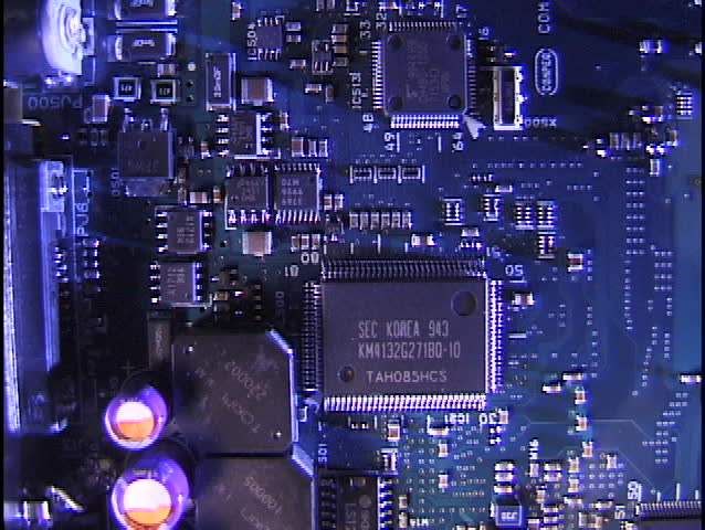 Computer Circuit Board - clip 2 of 2 - SD stock video clip