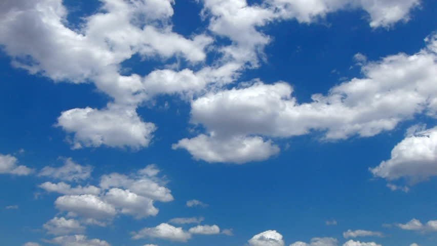 Timelapse Of Clouds And Blue Sky Stock Footage Video