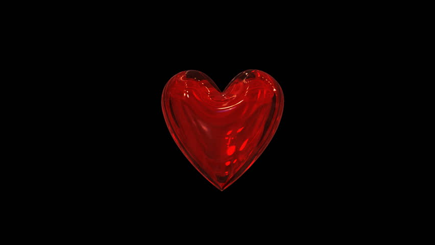 Red Heart Flying To Bits On The Black Background Stock ...