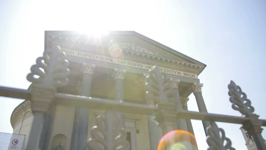 Italian Church in Turin with Lens Flare