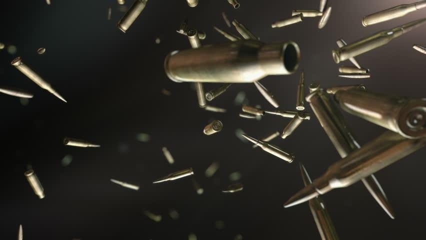 Bullets flight . High quality super slow motion bullets ...