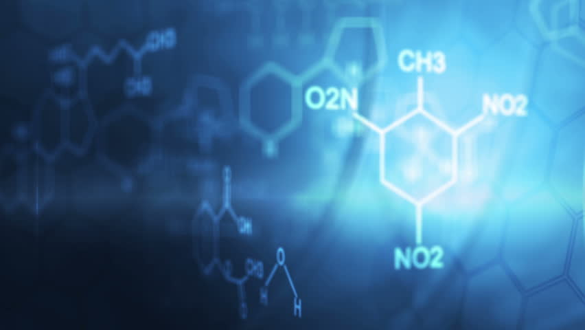 Organic Chemistry Wallpaper: Chemical Formula Stock Footage Video