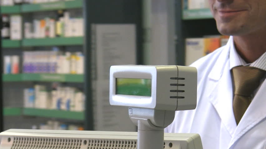 Cropped view of woman paying pharmacist. HD 30 fps - HD stock footage clip