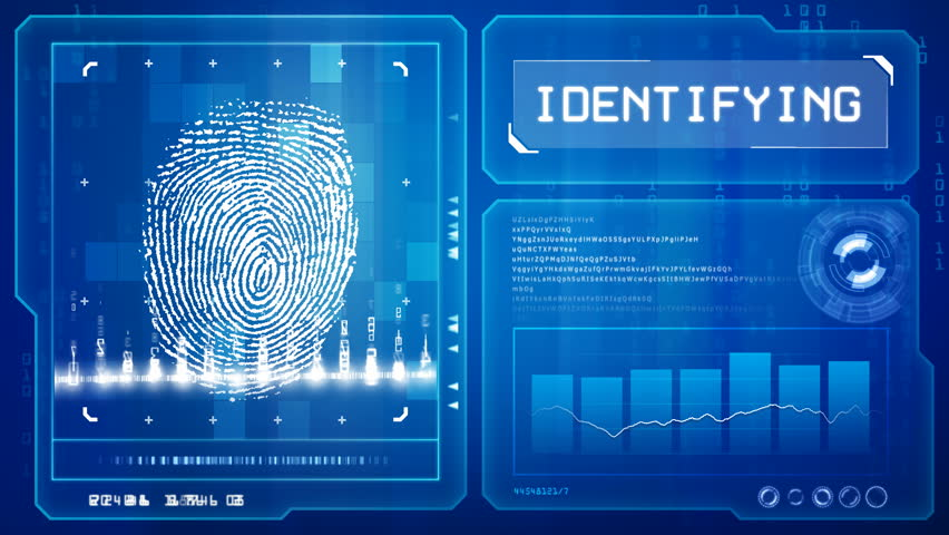 Fingerprint scan  - HD stock footage clip