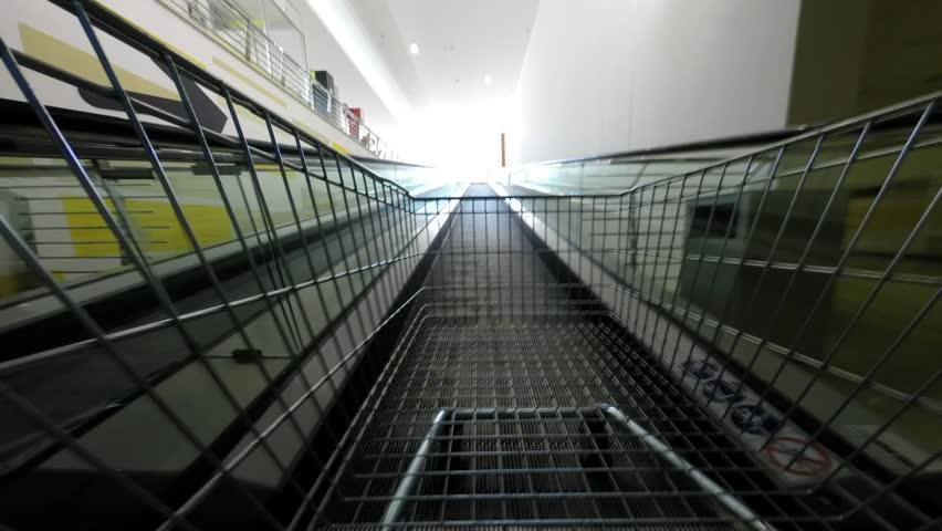 BRACCIANO, LAZIO, ITALY - APRIL 8, 2014: Food shopping in Conad superstore, time lapse video, illustrative editorial.
