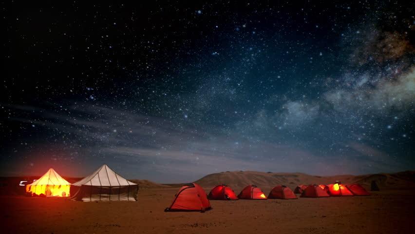 Timelapse Of Sahara Night Stock Footage Video 6374495 ...