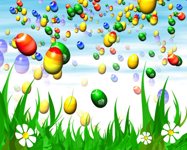 Easter 3d animation - LOOP - SD stock footage clip