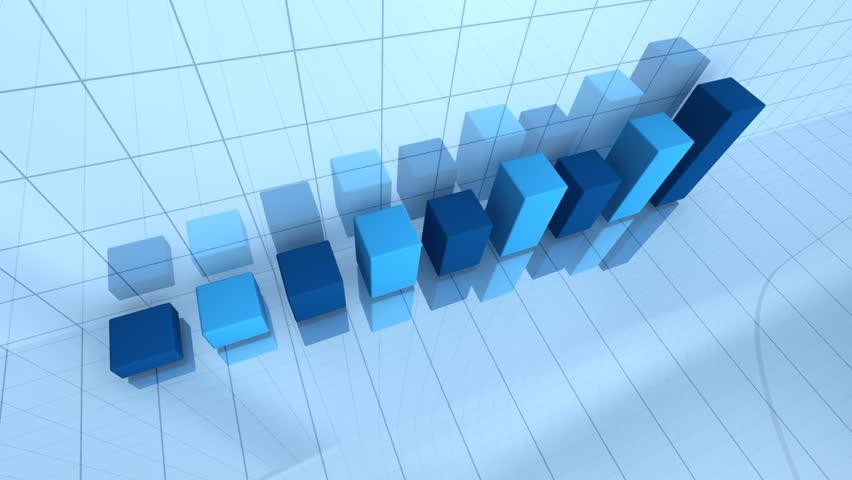 Bar graph depicting grow - HD stock footage clip