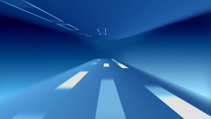 Abstract Background In The Form Of Moving Lines On Road ...