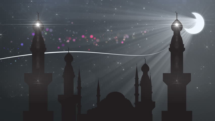abstract background ramadan ( ramazan ) - HD stock footage clip