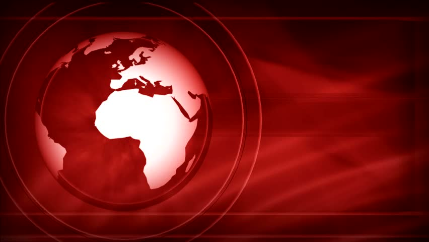 Globe And Abstract Background For News - LOOP - Red Stock ...