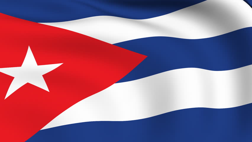 Flying Flag of Cuba | LOOPED | - HD stock video clip