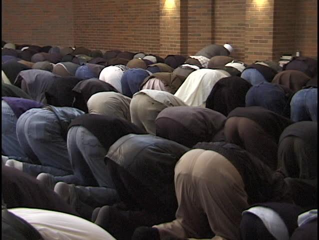 Muslims Pray - SD stock footage clip
