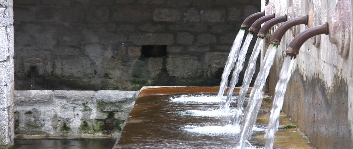 old italian fountain - HD stock footage clip