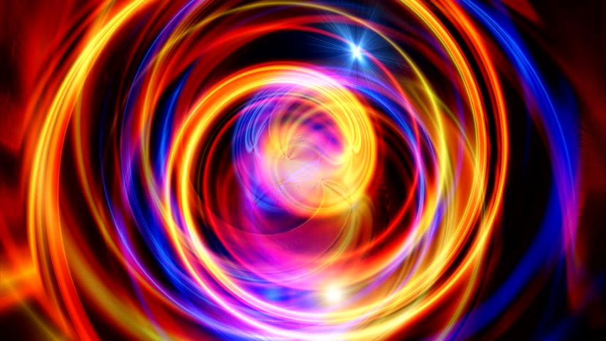 Blue, gold and red abstract background with flares - HD stock footage clip