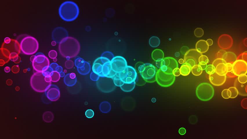 Abstract colorful circles loop - HD stock video clip