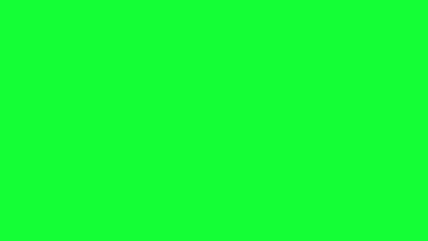 Set of red marker notes on green screen. Arrows, marks, lines. Full HD.