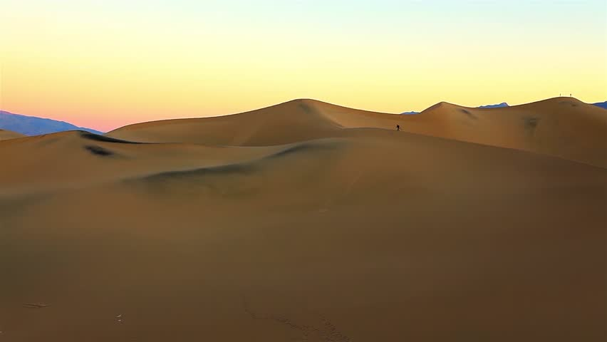 Sunrise at the at the huge sand dunes of Death Valley National Park, California, USA | Shutterstock HD Video #6738481