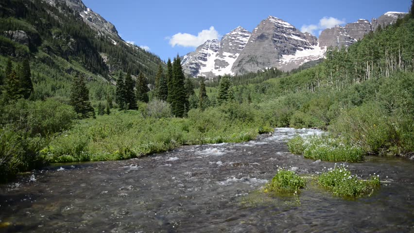 Fly-fishing In Mountain Stream Stock Footage Video ...