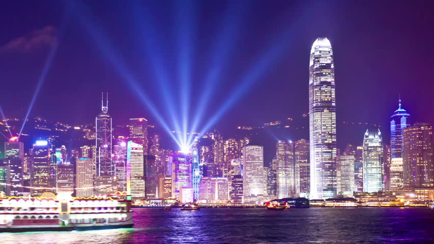 Panning timelapse video of Symphony of Light in Hong Kong | Shutterstock HD Video #6769243
