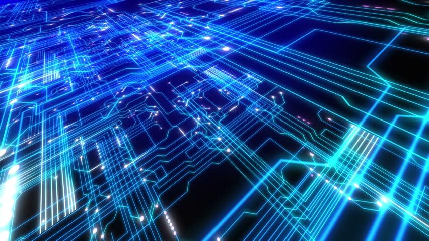 Futuristic Technological Interface Background Seamless