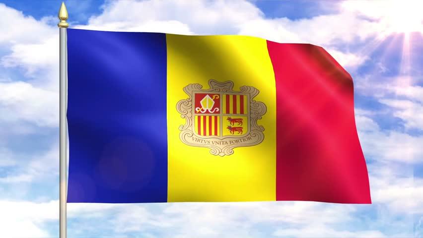 Flag Of Andorra Sky Background | Shutterstock HD Video #6823567